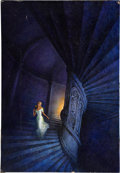 Original Comic Art:Covers, The Circular Staircase Paperback Cover Original Art (Dell,1968)....