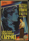 """Movie Posters:Film Noir, The Two Mrs. Carrolls (Warner Brothers, 1947). Spanish One Sheet(27"""" X 39""""). ..."""