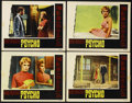 "Movie Posters:Hitchcock, Psycho (Paramount, 1960). Lobby Cards (4) (11"" X 14""). ... (Total:4)"