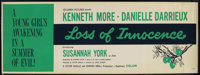 "Loss of Innocence (Columbia, 1961). Banner (24"" X 82""). Romance. Starring Kenneth More, Danielle Darrieux, Sus..."