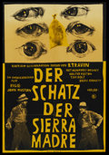 "Movie Posters:Drama, The Treasure of the Sierra Madre (Progress Film, R-1963). GermanPoster (22.5"" X 33""). ..."