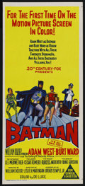 "Movie Posters:Action, Batman (20th Century Fox, 1966). Australian Daybill (13"" X 30"").Action. Starring Adam West , Burt Ward, Lee Meriwether, Ces..."