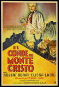 "Movie Posters:Adventure, The Count of Monte Cristo (United Artists, R-1940s). ArgentineanOne Sheet (29"" X 43.5""). ..."