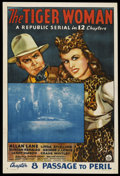 """Movie Posters:Serial, The Tiger Woman (Republic, 1944). One Sheet (27"""" X 41""""). Serial. Chapter 8 -- """"Passage to Peril."""" Starring Allan Lane, Linda..."""