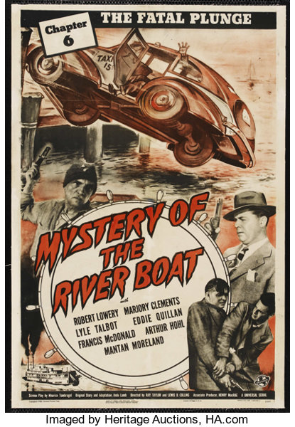 Mystery Of The River Boat Universal 1944 One Sheet 27
