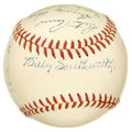 Autographs:Baseballs, 1950 Boston Braves Single Signed Baseball. A dozen members of the1950 Boston Braves have applied high-quality signatures t...
