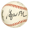 Autographs:Baseballs, 1991 Texas Rangers Team Signed Baseball with George W. Bush. Duringthe first half of the 1990s, George W. Bush served as a...