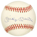 Autographs:Baseballs, Mickey Mantle Single Signed Baseball. Yet another superior exampleof the all-important collector favorite Mantle single. ...