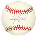 Autographs:Baseballs, Carlos Delgado Single Signed Baseball. Carlos, 'The Sporting News'Player of the Year in 2000, penned his signature to this...