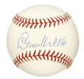 "Autographs:Baseballs, David Wells Single Signed Baseball. Nicknamed ""Boomer"" for hisphysique ( 6-3, listed at 252 lbs.) David Wells is one of onl..."