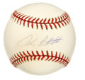 Autographs:Baseballs, Andy Pettitte Single Signed Baseball. We offer this signed OML(Selig) baseball signed by one of the most dominating left-h...