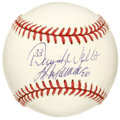 Autographs:Baseballs, David Wells and Jorge Posada Signed Baseball. David Wells and JorgePosada were battery mates in 1998 when Wells threw a pe...
