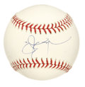 Autographs:Baseballs, Jason Giambi Single Signed Baseball. Five time All-Star and perennial long ball hitter, Jason Giambi added his perfect (10/...