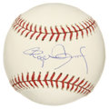 "Autographs:Baseballs, Roger Clemens Single Signed Baseball. Roger ""the Rocket"" Clemens,is widely considered to be one of the best pitchers of all..."