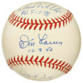 Autographs:Baseballs, Perfect Game Pitchers Baseball Signed by 3. Three perfect gamepitchers each have applied their signatures to the baseball ...