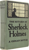 Books:First Editions, Arthur Conan Doyle. The Return of Sherlock Holmes. Toronto:Morang & Co. Limited, [1905]. First Canadian edition...
