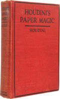 Books:First Editions, [Harry] Houdini. Houdini's Paper Magic. The Whole Art ofPerforming With Paper, Including Paper Tearing, PaperFol...