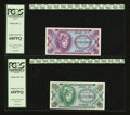 Military Payment Certificates:Series 641, Series 641 5¢; 10¢ PCGS Superb Gem New 68PPQ. ... (Total: 2 notes)