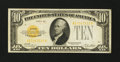 Small Size:Gold Certificates, Fr. 2400 $10 1928 Gold Certificate. Fine-Very Fine.. ...