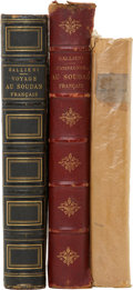 Books, Three Books on the Sudan, including: Joseph Gallieni. Voyage auSoudan Français. 1885. [and:] Joseph Gallieni.... (Total: 3Items)
