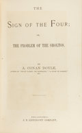 "Books:First Editions, Arthur Conan Doyle. ""The Sign of Four; or The Problem of theSholtos"" in Lippincott's Monthly Magazine. Philadel..."