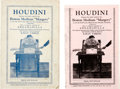 "Books:Pamphlets & Tracts, [Harry Houdini]. Houdini Exposes the Tricks Used by the BostonMedium ""Margery"" to Win the $2500 Prize Offered by the Sc...(Total: 2 Items)"