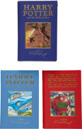Books:First Editions, J. K. Rowling. Three Harry Potter First Deluxe Editions, including:Harry Potter and the Philosopher's Stone. [L... (Total: 3Items)