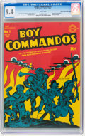 Golden Age (1938-1955):War, Boy Commandos #1 Mile High pedigree (DC, 1942) CGC NM 9.4 White pages....