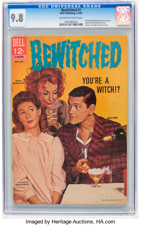 Bewitched #1 (Dell, 1965) CGC NM/MT 9.8 Off-white to white pages....
