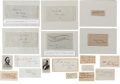 Autographs:Military Figures, Lot of 16 Confederate General's Signatures... (Total: 16 Items)