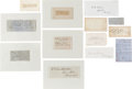 Autographs:Military Figures, Large Lot of 13 Confederate General's Signatures... (Total: 13Items)