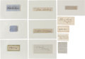Autographs:Military Figures, Lot of 11 Confederate General's Signatures... (Total: 11 Items)