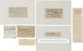 Autographs:Military Figures, Lot of 7 Confederate General's Signatures... (Total: 7 Items)