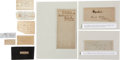 Autographs:Military Figures, Lot of 10 Confederate General's Clipped Signatures... (Total: 10 Items)
