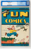 Platinum Age (1897-1937):Miscellaneous, More Fun Comics #12 Lost Valley pedigree (DC, 1936) CGC FN/VF 7.0Off-white pages....