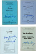 Books:First Editions, Ray Bradbury. Four Signed Uncorrected Proofs, including: TheToynbee Convector. [and:] A Graveyard For Lunatics....(Total: 4 Items)