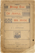 Books:First Editions, Robert Louis Stevenson. Strange Case of Dr. Jekyll and Mr.Hyde. London. Longmans, Green, and Co., 1886. . Fir...