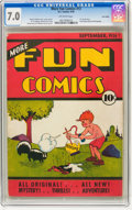 Platinum Age (1897-1937):Miscellaneous, More Fun Comics #13 Lost Valley pedigree (DC, 1936) CGC FN/VF 7.0Off-white pages....