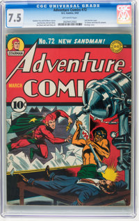 Adventure Comics #72 (DC, 1942) CGC VF- 7.5 Off-white pages