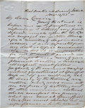 Military & Patriotic:Civil War, Joseph Warren Keifer Second Battle of Rappahannock Station Autograph Letter Signed. Two pages, penned on recto and verso of ...
