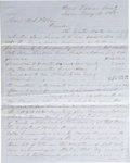 """Autographs:Military Figures, Texas CSA: J. G. Wright Autograph Letter Signed. Two pages penned on recto and verso, 7.75"""" x 9.75"""", on blue lined paper, """"..."""