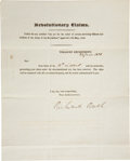 "Autographs:Statesmen, Richard Rush Document Signed as President John Q. Adams' treasurysecretary. One page, 8"" x 10"", June 24, 1828, ""Treasury ..."
