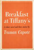 Books:Signed Editions, Truman Capote. Breakfast at Tiffany's. New York: RandomHouse, [1958].. First edition, first printing. Signe...