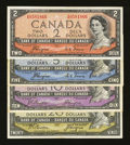 "Canadian Currency: , Four Different ""Devil's Face"" Denominations in Fine or Better.. ...(Total: 4 notes)"