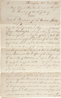 Autographs:U.S. Presidents, [George Washington's Death] President John Adams and Major GeneralAlexander Hamilton: Period Manuscript Copy of Orders Regard...