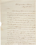 """Autographs:Military Figures, Henry Dearborn Autograph Letter Signed """"H. Dearborn"""". One page, 8"""" x 10"""", May 10, 1812, """"Head quarters Albany"""", to C..."""