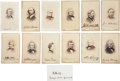 """Photography:CDVs, Civil War Statesmen: Group of Twelve Cartes de Visite and One Signed Card. All CDVs are 2.5"""" x 4"""" and are signed... (Total: 13 Items)"""