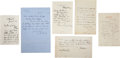 Autographs:Artists, Artists: Collection of Six Autograph Letters Signed by Prominent Artists, including: George Clausen (July 3, 1883); A....