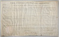 "Autographs:U.S. Presidents, James Monroe Land Patent Signed ""James Monroe"" as president. One page, 15.75"" x 9.75"", December 6, 1821, Washington, D.C..."