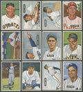 Baseball Cards:Lots, 1951 Bowman Baseball Collection (12 Different) - All High Numbers!...